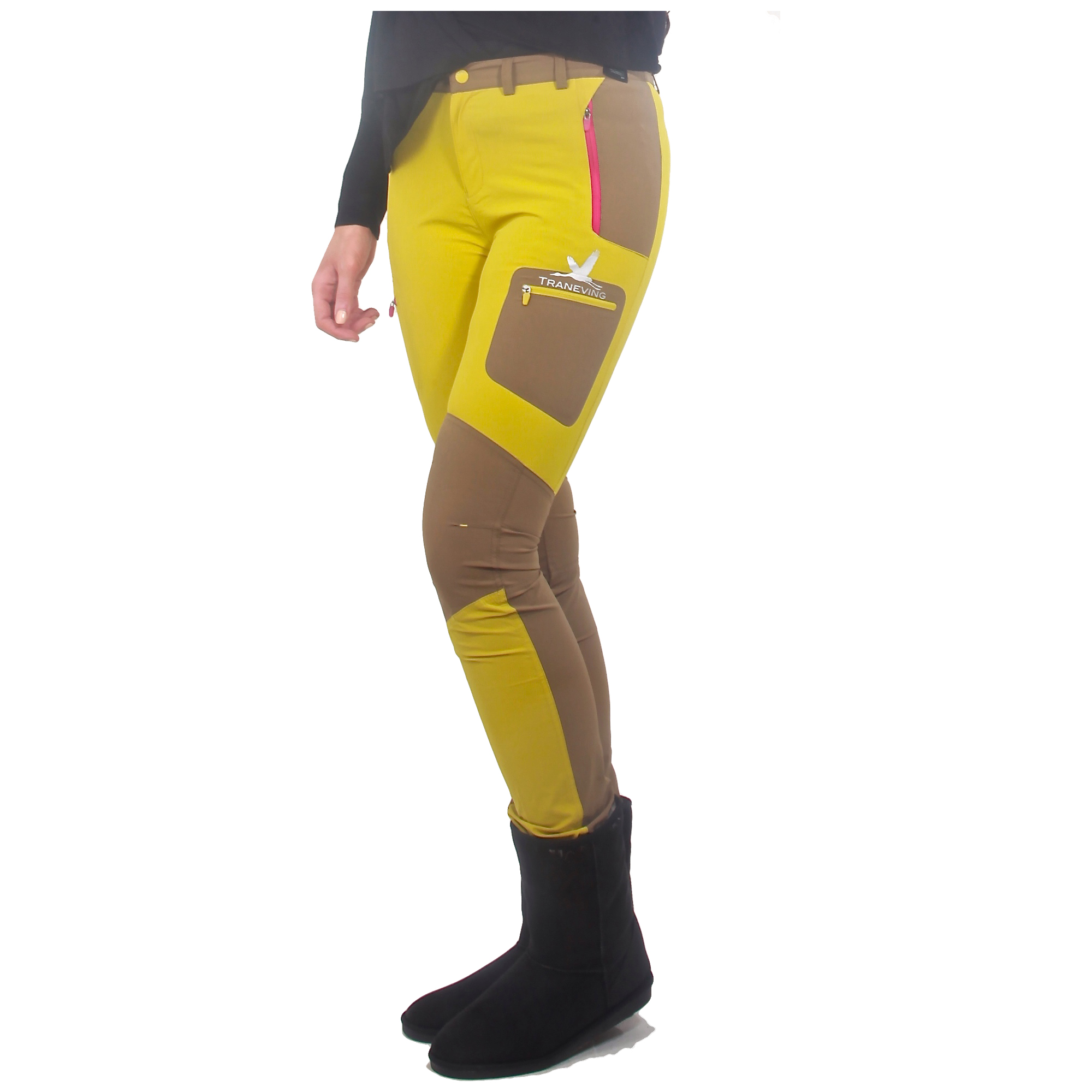 Unique Catherine Malandrino Stretch Leather Pants In Yellow  Lyst